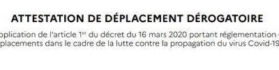 Couvre-feu : téléchargez l'attestation de déplacement obligatoire