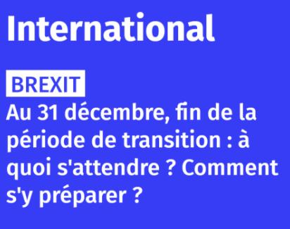 Brexit: ce qui va changer au 1er janvier