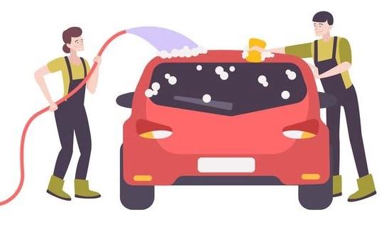 Laver sa voiture dans la rue est passible d'une amende de 450€